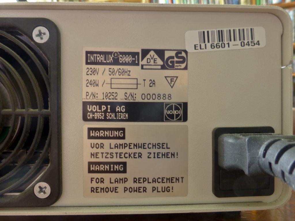 Specificaties Intralux 6000-1